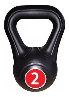 Pesas Rusas Kettlebell Plastica 2 Kg Fitness Deporte Funcional Functional