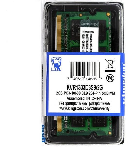 Memoria Notebook 2gb Ddr3 1333 10600 1,5v 16 Chip Kingston