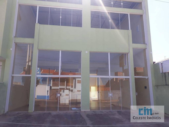 Salão Para Alugar, 180 M² Por R$ 3.000/mês - De Lorenzi - Boituva/sp - Sl0016