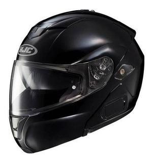 Casco De Moto Hjc Solid Mens Sy-max Iii Street Racing - Negr
