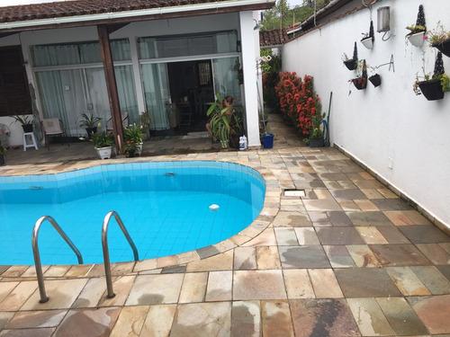 Casa Térrea Guaruja 5 Quarto,piscina Area Lazer 200 Mt Praia