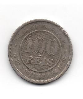 Moeda Cem 100 Réis Republica Estados Unidos Brasil 1989 Mbc