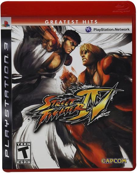 Game Play3 - Street Fighter 4 - Semi-novo Jogo Ps3