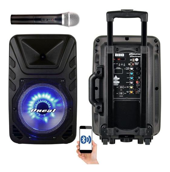 Caixa De Som Amplificada Bateria Oneal Omf405 + Microfone