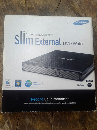 Imagen 1 de 6 de Quemador Externo Samsung Slim Se-s084