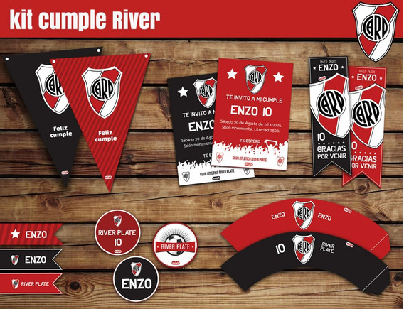 Kit Cumple Imprimible River Plate + Candy Bar
