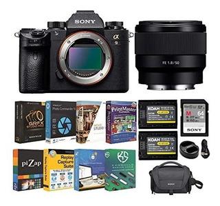 Camara Sony Alpha A9 Full Frame Mirrorless 50mm F 1.8 Lent ®