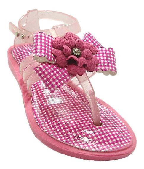 Sandália Feminina Infantil Bical 150-24 Fiesta Rosa Chiclete