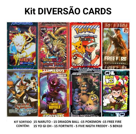 Kit 400 Cartinhas Promoção =100pctes Cards Barato Bater Bafo