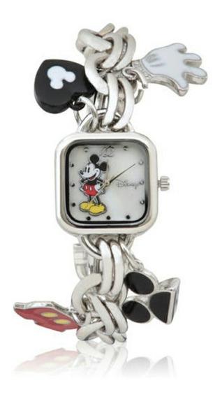 Reloj De Pulsera Con Adornos Mickey Mouse Original 58387
