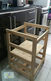 Torre De Aprendizagem Montessoriana/ Cadeirão De Alimentação