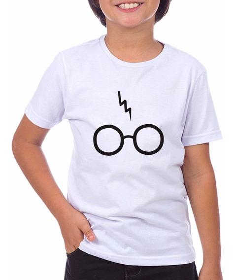 Camiseta Infantil Hp Harry Potter Óculos Tam 2 Ao 14