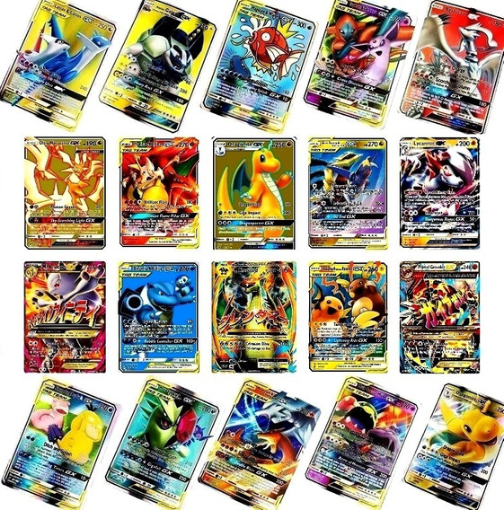 10 Cartas Pokemon Aliados + 10 Gx + Frete Grátis Só Hoje