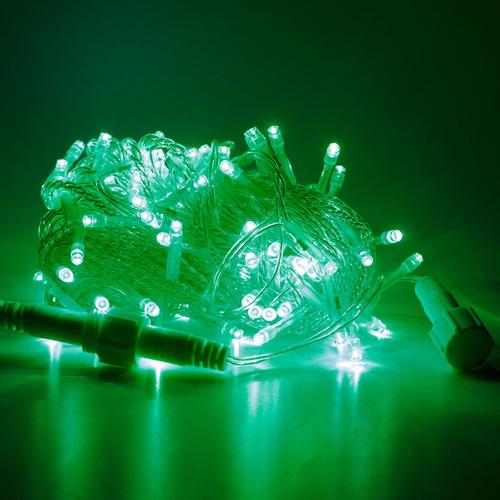 Imagen 1 de 1 de Serie Navideña Led 10m 100 Luces Led Verde Luz Fija