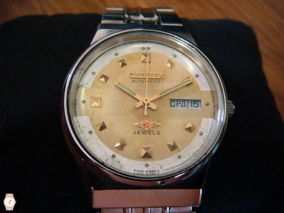 Reloj Citizen Automático Vintage Calendario Idioma Ruso