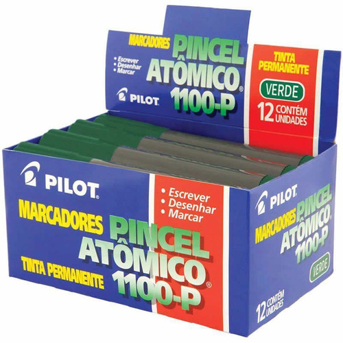 Imagem 1 de 1 de Pincel Atômico Verde 1100-p Caixa Com 12 Un. Pilot 05981