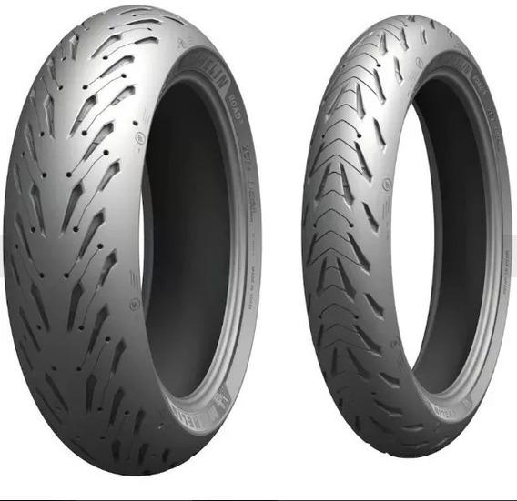 Par Pneu Yamaha R1 Michelin Pilot Road5 190/55-17+120/70-17