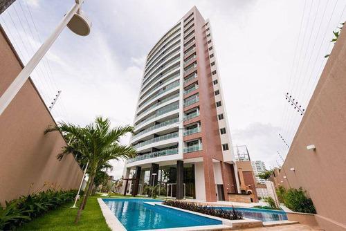 Imagem 1 de 30 de Apartamento Com 3 Quartos À Venda, 123 M², Novo, 3 Vagas, Área De Lazer, Financia  Luciano Cavalcante - Fortaleza/ce - Ap0708