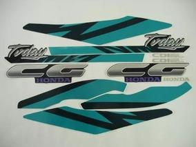Faixa Adesivos Cg Today 125 1994 Azul Modelo Original