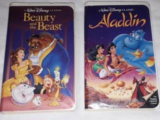 La Bella Y La Bestia Y Aladdin Edición Diamante Negro