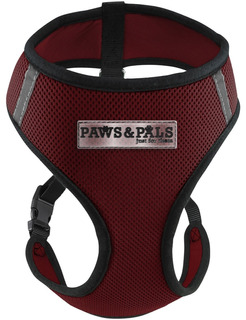 Oxgord Pthn01-mm-rd Arnés Para Mascotas, Medium, Color Rojo