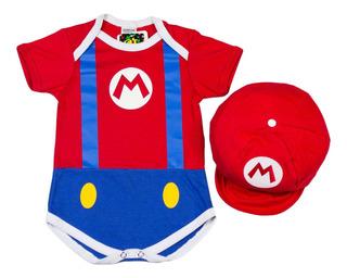 Body Super Mario Nintendo Fantasia + Boina