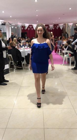 Vestidos Forever 21 Azul Francia Talle L Y M