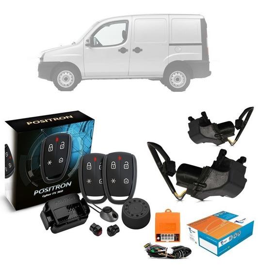 Alarme Positron Fx + Kit Trava Eletrica Fiat Doblo