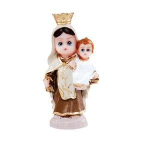 Imagem Nossa Senhora Do Carmo Infantil Resina 8cm