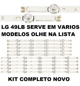 Kit Barra Led Lg 49lb5500-lb6200-lf5200-lf5500 Kit Completo