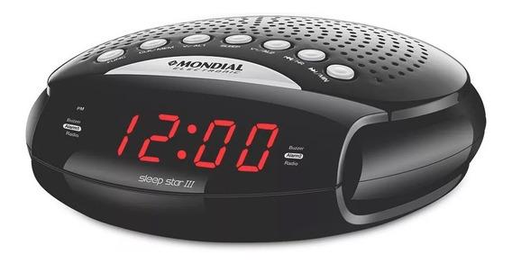Rádio Relógio Com Despertador Am/fm Rr-03 Mondial - Bivolt