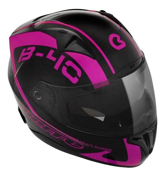 Capacete Feminino Bieffe B-40 Road Racer Preto - Magenta