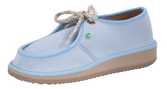 Sapato Casual Para Esporão E Fascite Mundoflex - Azul Bb