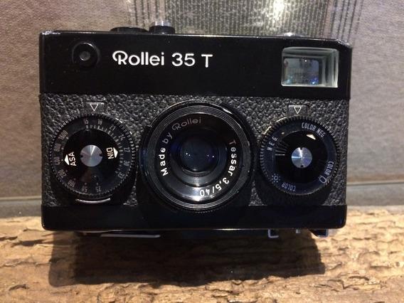 Câmera Rollei 35 T Preta Funcionando Única No Mercado Livre