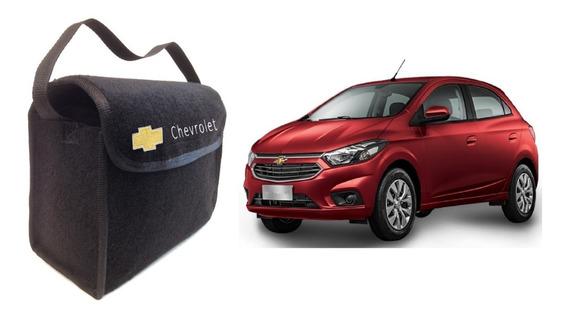 Bolsa Automotiva Organizadora Porta Malas Multiuso Luxo Anti Ruído Ferramentas Chave Roda Cera Macaco Carro Chevrolet