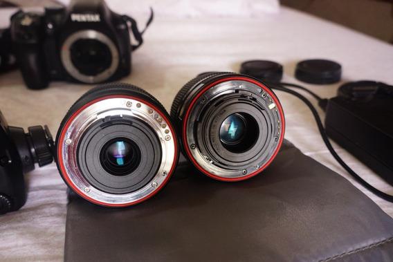Pentax K50+2 Lentes+carregador/2batt. Resiste A Intempéries