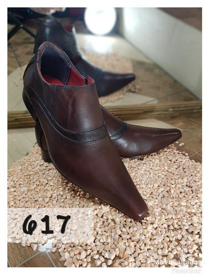 Sapato Social Masculino Cor-chocolate Envernizado + Frete*