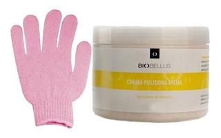 Crema Pulidora Facial + Guante Exfoliante Piel Profesional