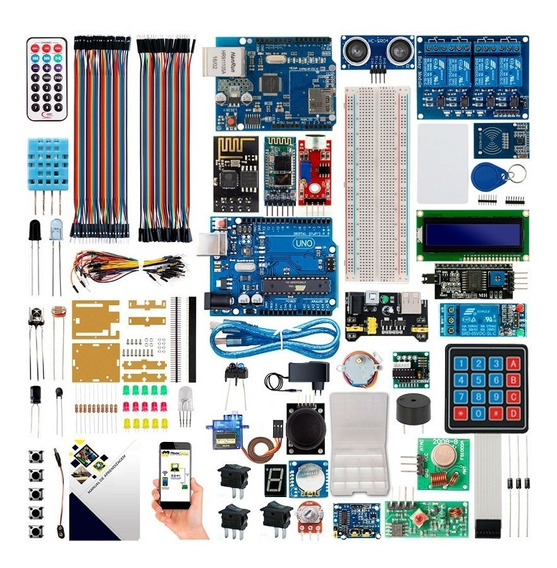 Kit Arduino Uno R3 Avançado Bluetooth Ethernet Wifi + Brinde