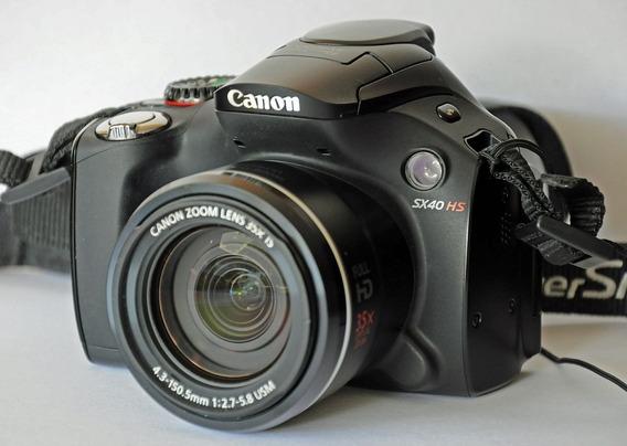 Camara Canon Powershot Sx40 Hs + Bateria Extra + Sd 8 Gb