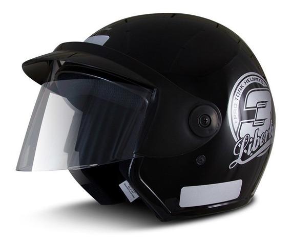 Capacete para moto aberto Pro Tork Liberty Three preto tamanho 56
