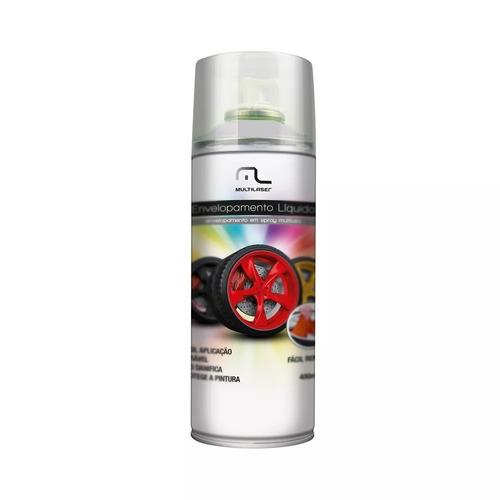 Spray Envelopamento Liquido Preto Branco Fosco 400ml