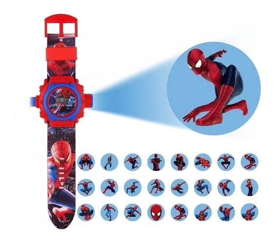 Relógio Infantil Projetor De Imagens Homem Aranha