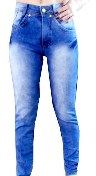 Calça Jeans Hot Pants Lavagem Mescla