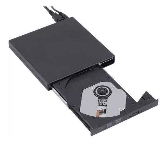 Gravador Externo Slim Usb 2.0 Portátil Leitor Cd / Dvd