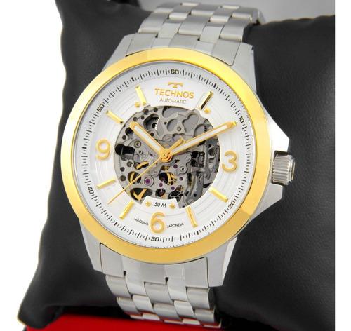 Relógio Technos Masculino Automatico Dourado/prata 8n24al/1k