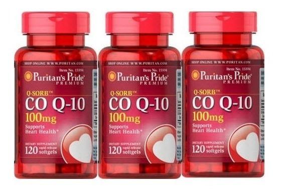 Coenzima Q10 Coq10 100mg 120 Softgels Importado Puritans