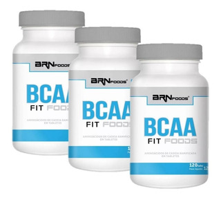 Bcaa Fit Foods 3 Unidades (120tabs) - Brn Foods