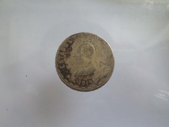 Plata 1 Peso Oaxaca 1915 Revolucion Moneda Antigua