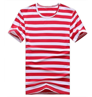 Camiseta Listrada Stecchi Modelo Slim